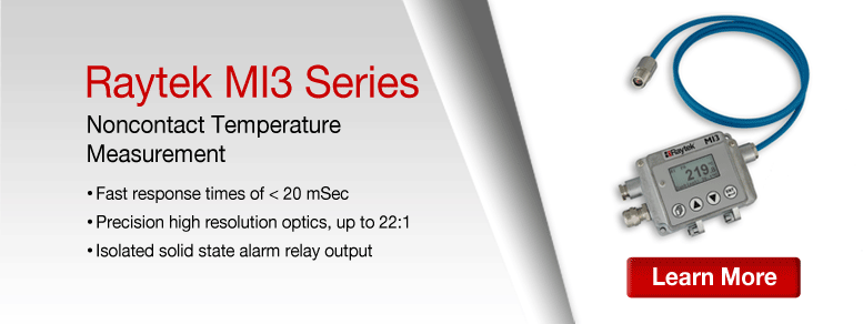 Learn more about the Raytek MI3 Compact IR Sensors Series