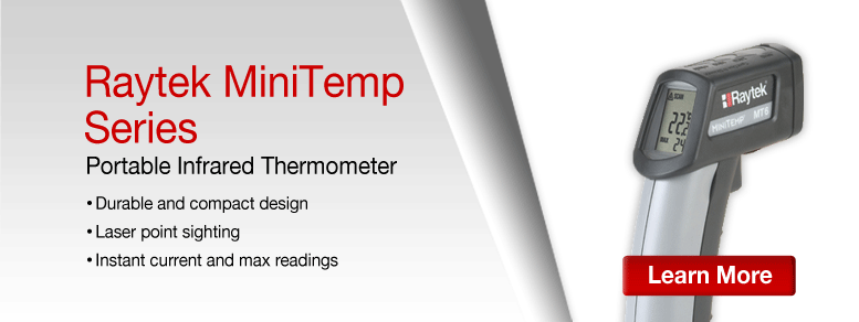 Learn more about the Raytek Portable IR Thermometers Series