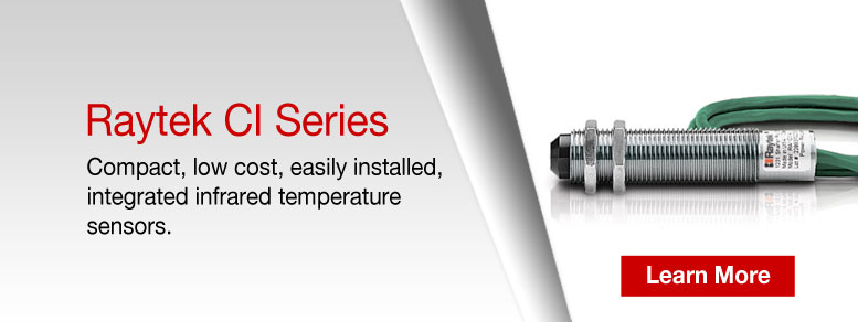 Learn more about the Raytek CI Infrared Temperature Sensor Series